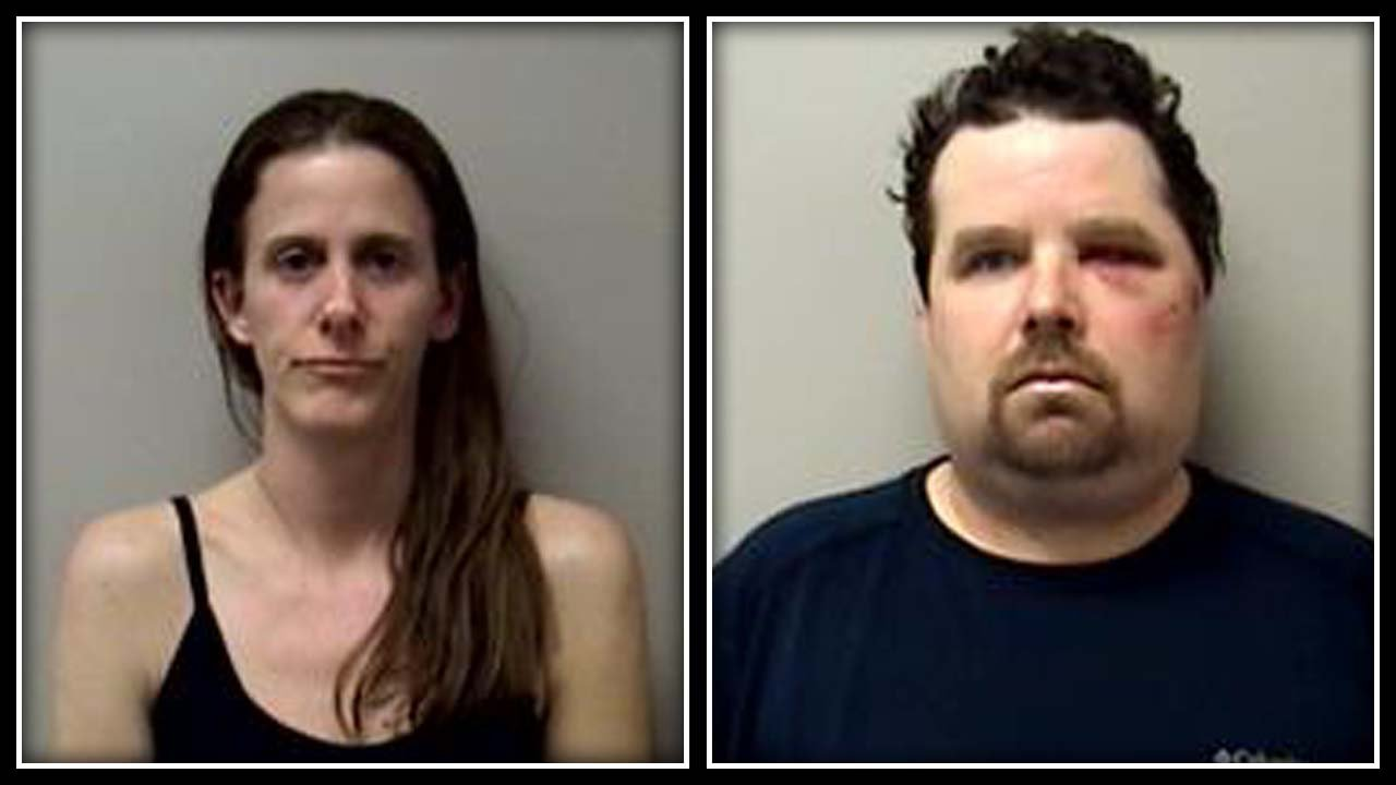 Kristen and Robert Dergosits were accused of growing marijuana in their Manchester apartment. (Manchester police photo)