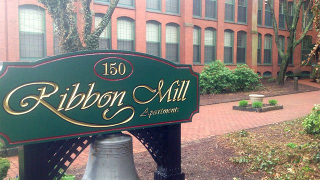 Ribbon Mill Apartments  is where police arrested Kirsten Dergosits and her husband, Robert Dergosits, on April 23.