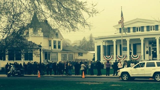 Hundreds attended Maren Sanchez's wake in Milford Thursday. (WFSB photo)