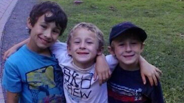 Boys Ryan, Brandan and Dylan Lewis are reportedly with their mother. (Vernon police photo)