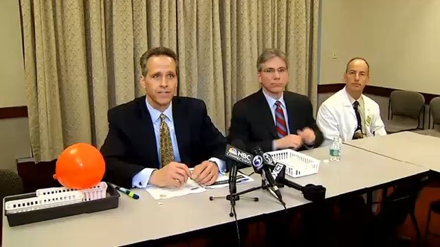 Griffin Hospital officials held a news conference Friday afternoon. (WFSB photo)