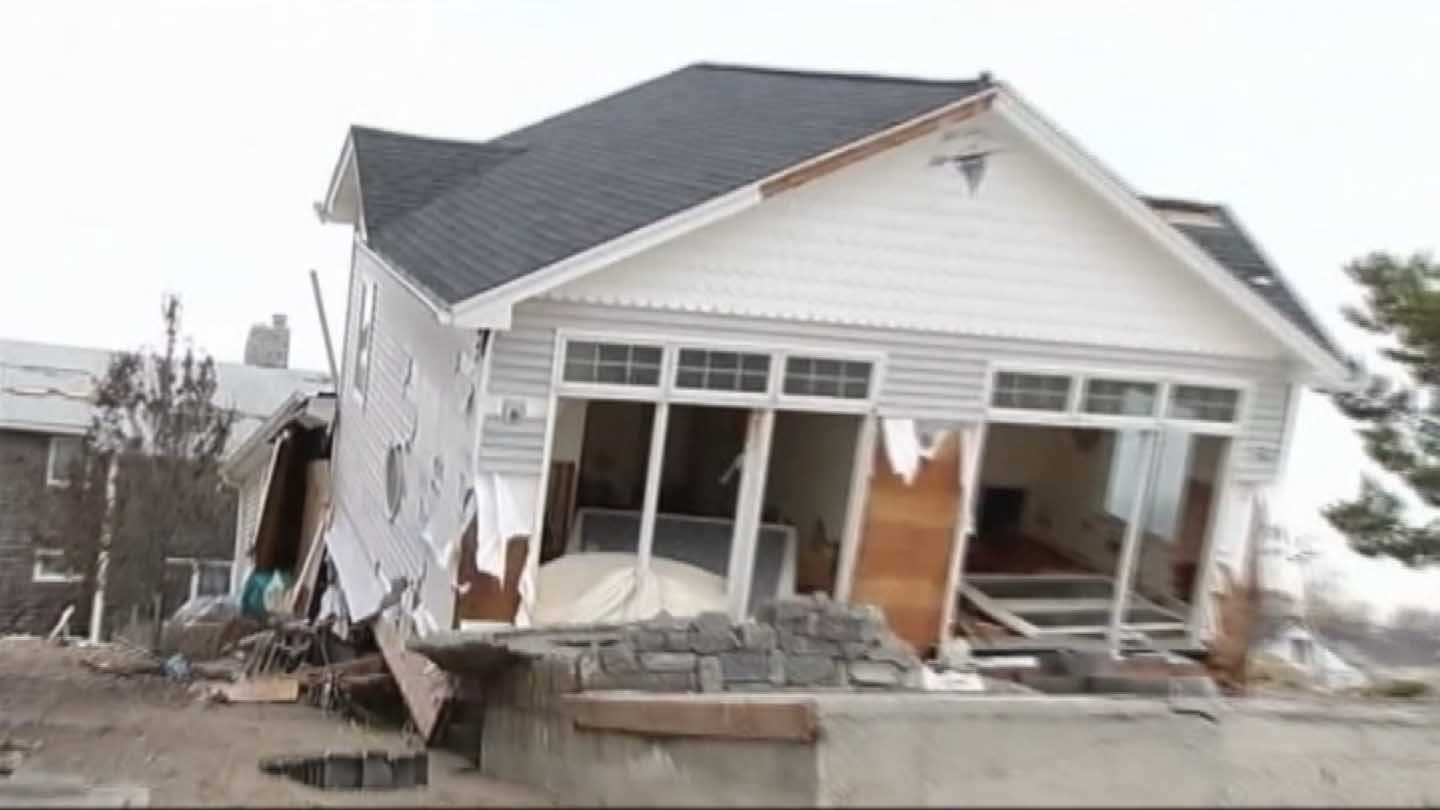 A home left damaged by storm Sandy in 2012. (WFSB photo)