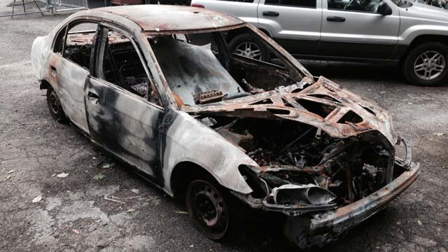 A photo of Kevin Mateer's car. (WFSB photo)