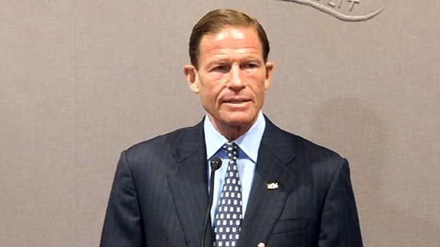 Sen. Richard Blumenthal called on the Coast Guard to reduce the amount of time the bridge is opened. (WFSB photo)