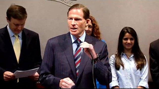 Lawmakers urged retailers to join the fight against gun violence. (WFSB photo)