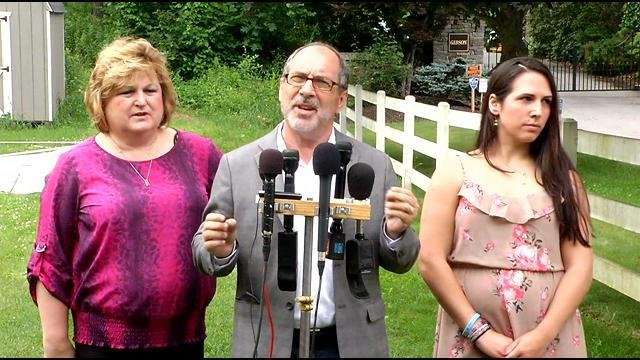 Justina Pelletier's family held a news conference about her return Wednesday morning. (WFSB photo)