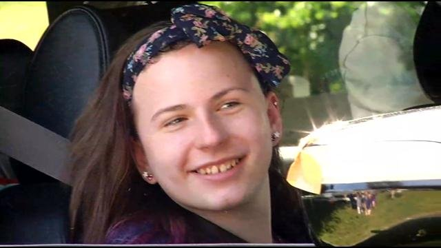 Justina Pelletier said it was 'awesome' to be home. (WFSB photo)