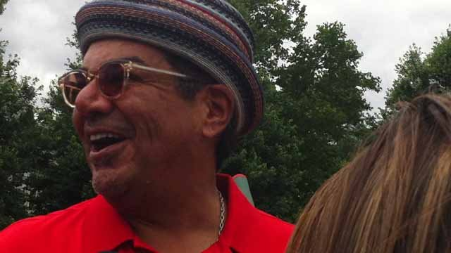 George Lopez speaks to the media. (WFSB photo)