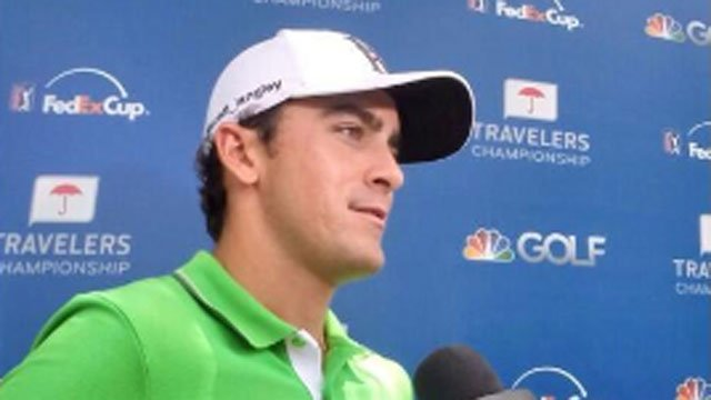 Scott Langley continues to lead the Travelers Championship.  (@TravelersChamp photo)