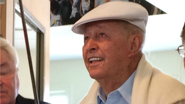 Bob Toski, who is the 1953 ICO Champion, spoke to members of the media about the exhibit at the First Tee of Connecticut Annual Donor Breakfast on Saturday morning.