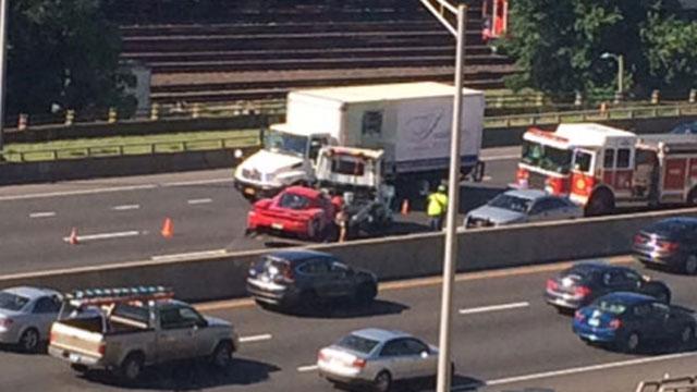 Jalopnik.com tweeted this photo of the crash on Monday