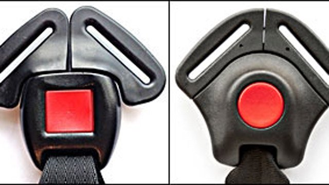 If your car seat currently has one of these buckles, it is not included in this recall. (Graco photo)