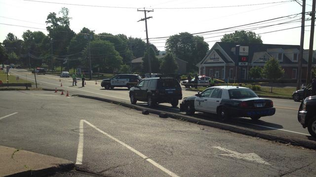 Hyde Avenue was closed in Vernon after a pedestrian was struck and killed. (WFSB photo)