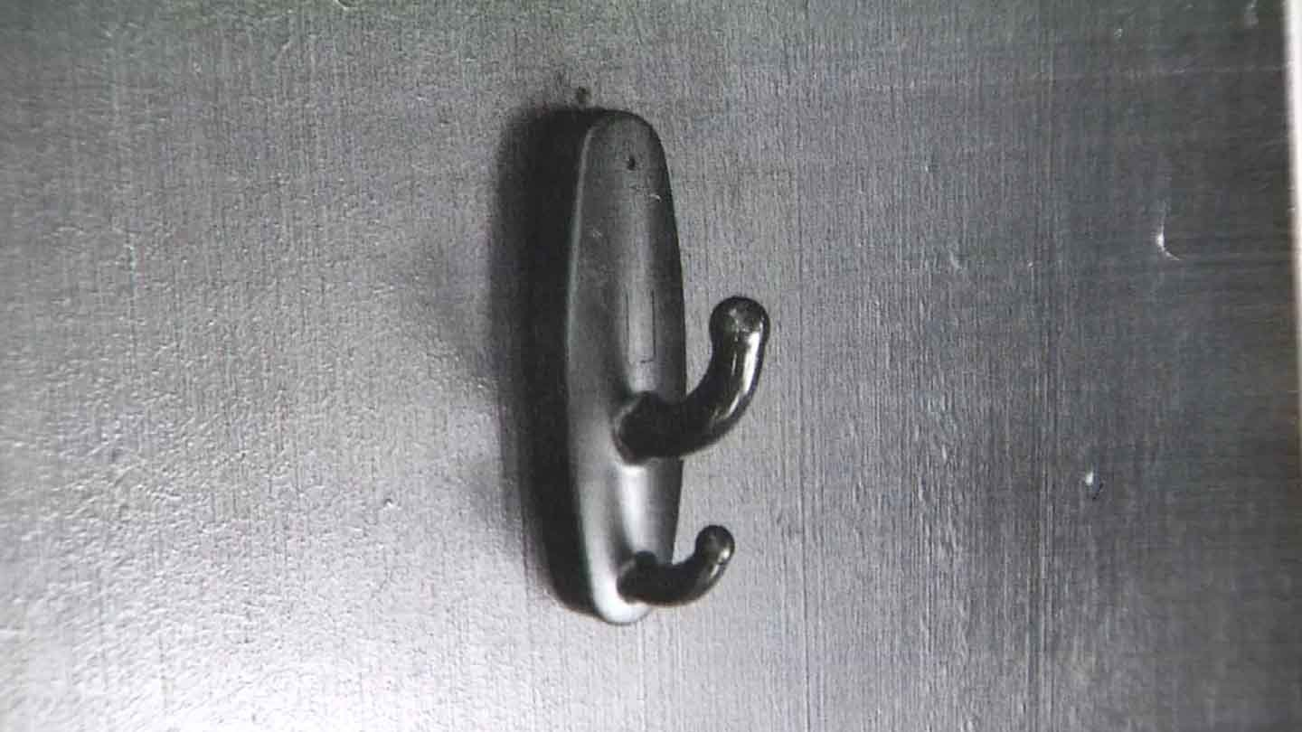 Officials said the camera was disguised as a towel hook. (WFSB photo)
