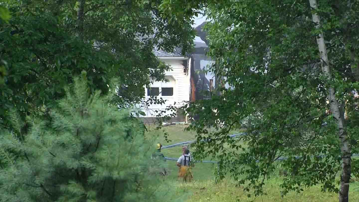 Neighbors said lightning may be to blame for a fire in Bethlehem. (WFSB photo)