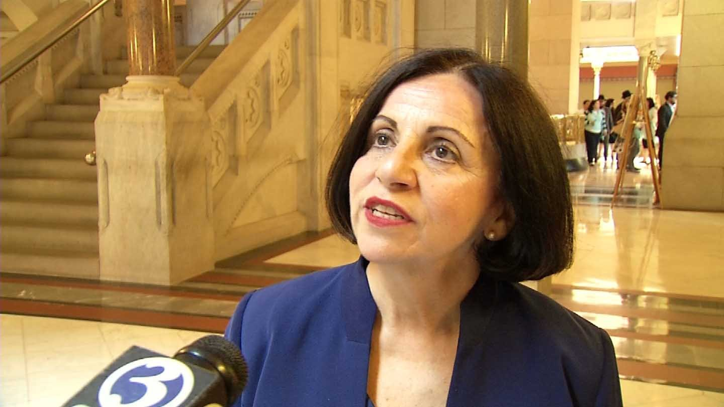 Sen. Toni Boucher is pushing for tougher penalties for parents who leave their children alone in vehicles. (WFSB photo)