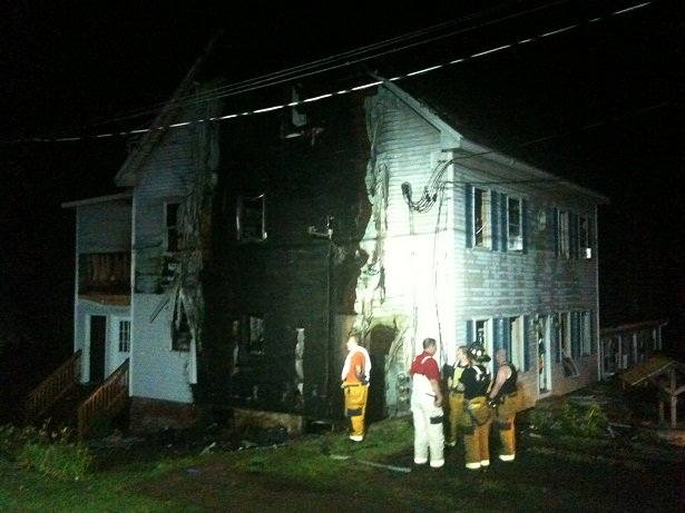 Crews from Ellington, Manchester, Bolton and Tolland battled an overnight fire at apartment in Vernon. (WFSB Photo)