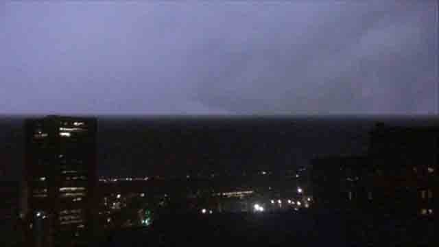 LIghtning over the New Haven city camera