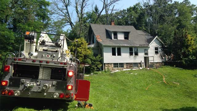 Heat was an issue for firefighters who battled a fire in Watertown on Tuesday morning. (WFSB Photo)