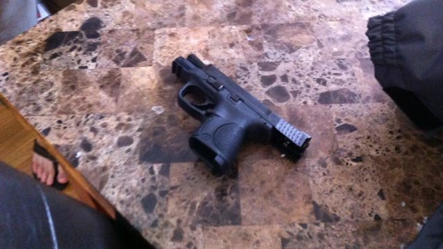 A gun used by one of the homeowners to detain the 15-year-old suspect. (WFSB photo)
