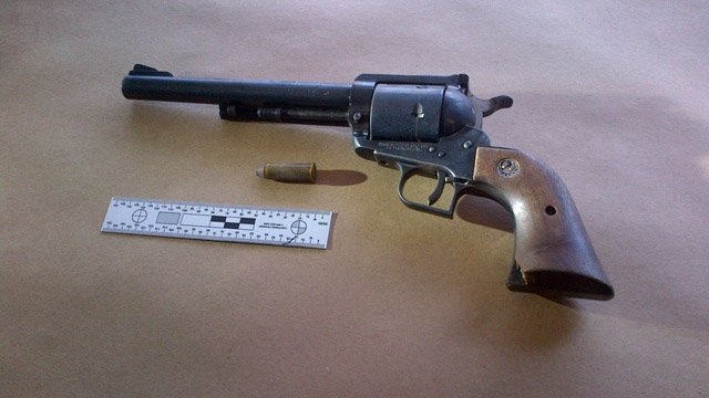 A photo of the gun used by the teenage suspect. (New London police photo)