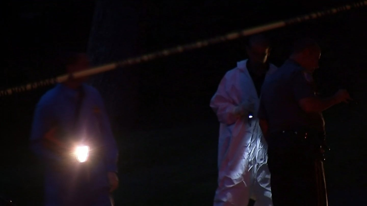 Detectives combed the scene for hours on Thursday. (WFSB photo)