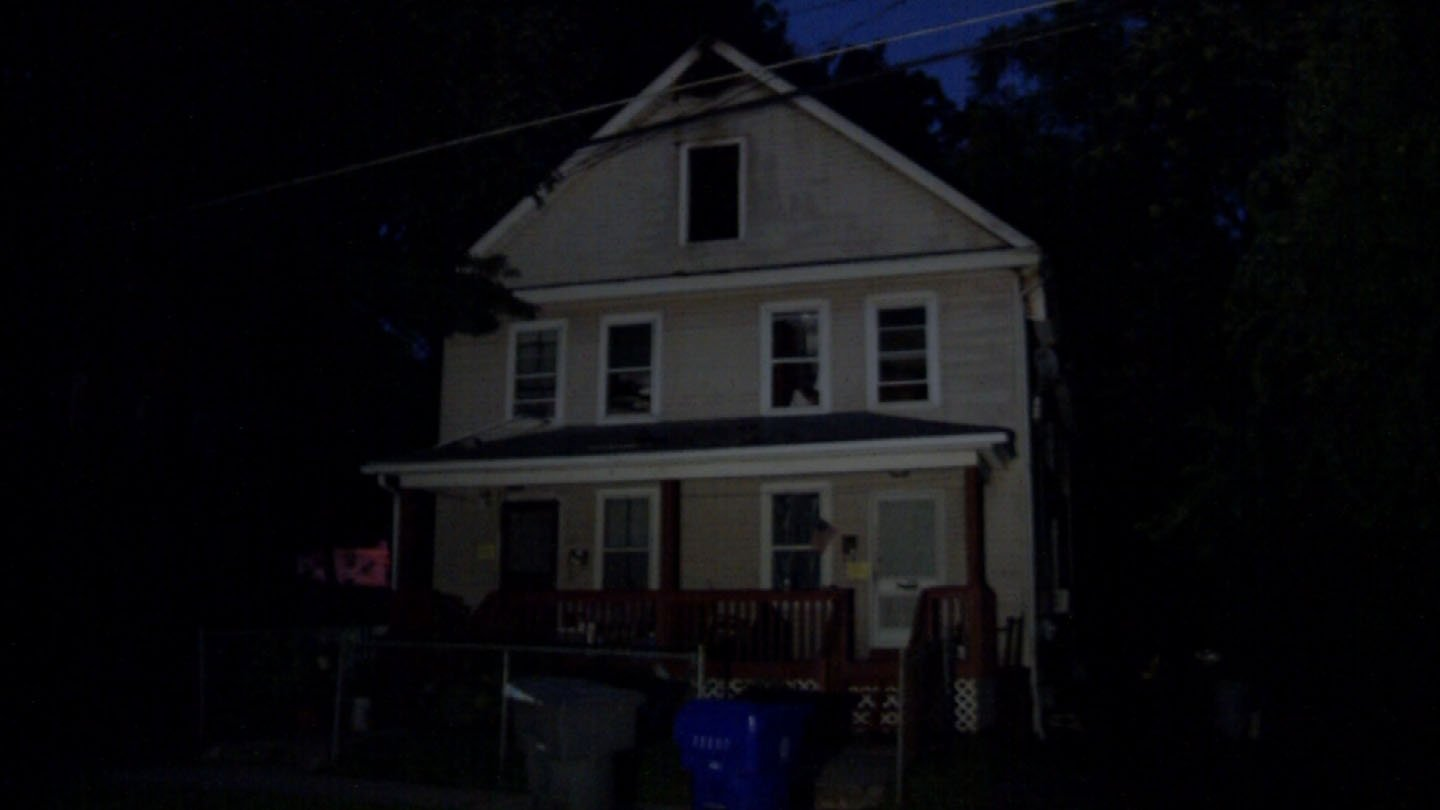 Seven people were forced from a home on Prospect Street that may have been struck by lightning. (WFSB photo)