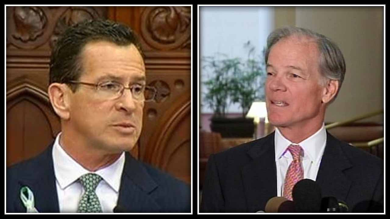 Gov. Dannel Malloy was 9 points behind Republican Tom Foley, according to a NYT/CBS poll. (WFSB photos)
