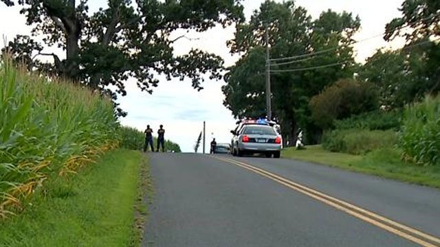 A 87-year-old woman died after being hit by a motor vehicle in Ellington on Tuesday evening. (WFSB Photo)