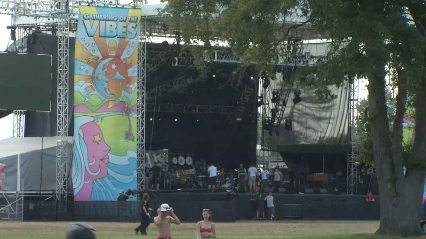 The Gathering of the Vibes began on Friday in Bridgeport. (WFSB photo)
