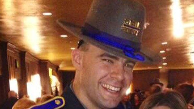 Michael Quagliaroli on the day of his graduation from the State Police Academy (Facebook photo)