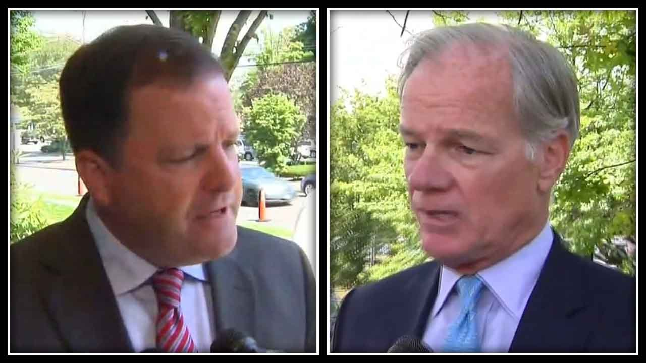 Gubernatorial Republican candidates John McKinney (left) and Tom Foley (right). (WFSB).
