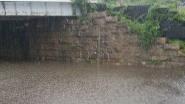 Flooding along Route 1 in Madison. (iWitness photo)