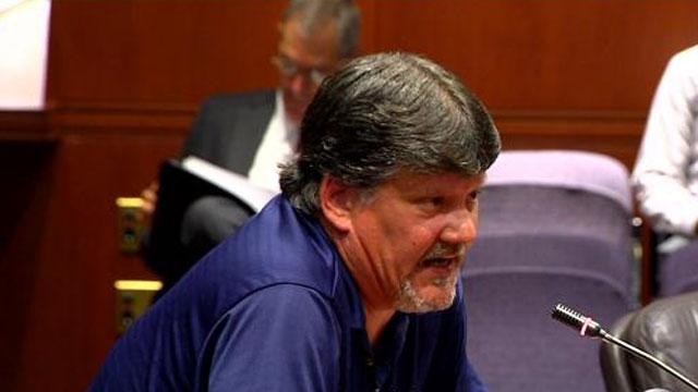 Tom Kuroski, who is a president of the Newtown Federation of Teachers, spoke to the Sandy Hook Advisory Commission.