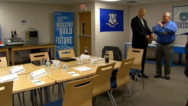 Goodwin College prepared for Biden's arrival.
