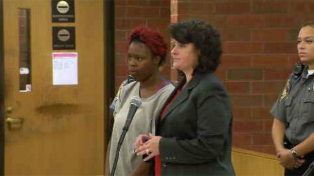 Chambriell Strickland (left) faced a judge on Wednesday (WFSB)
