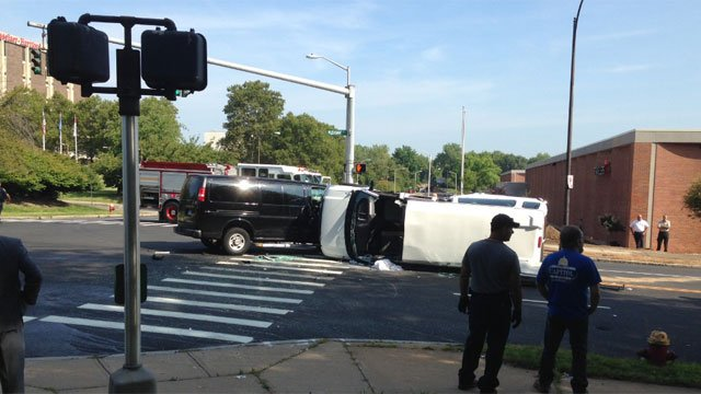 Non-life-threatening injuries reported in the crash, police said. (WFSB Photo)