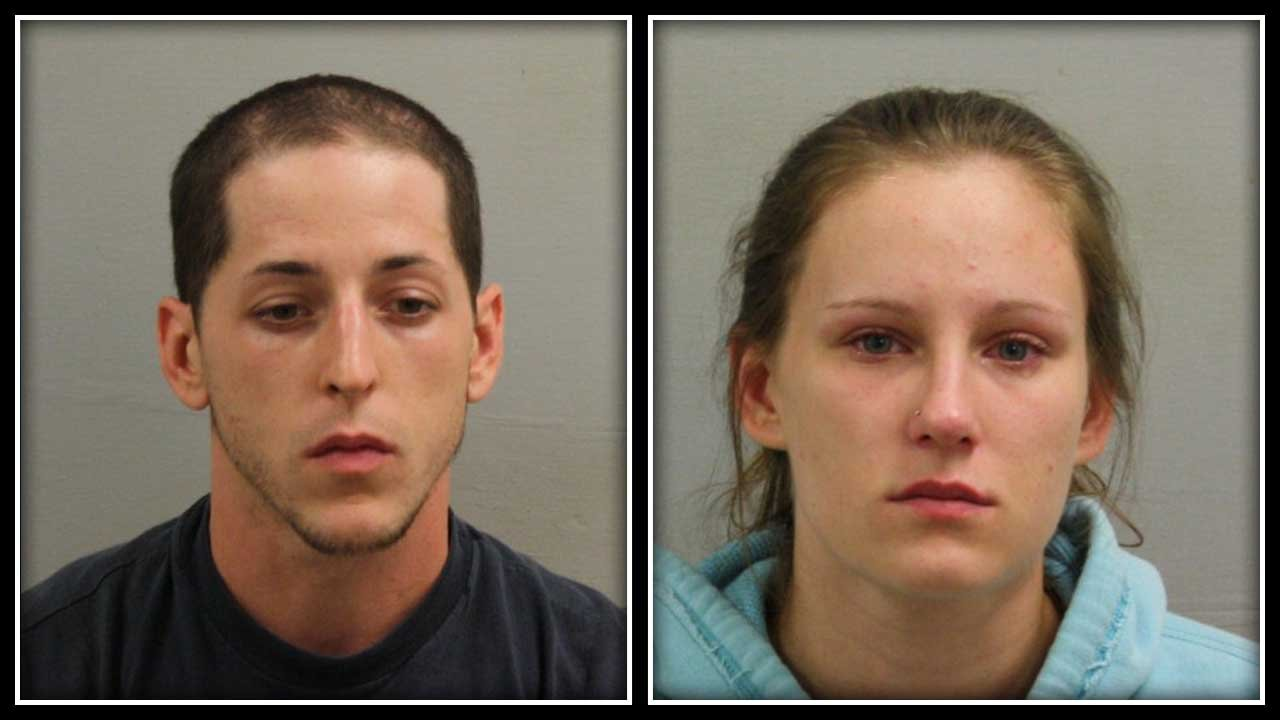 Jared J. Garand and Nicole Raboin are accused of attempting to steal vehicles. (Bristol police photos)