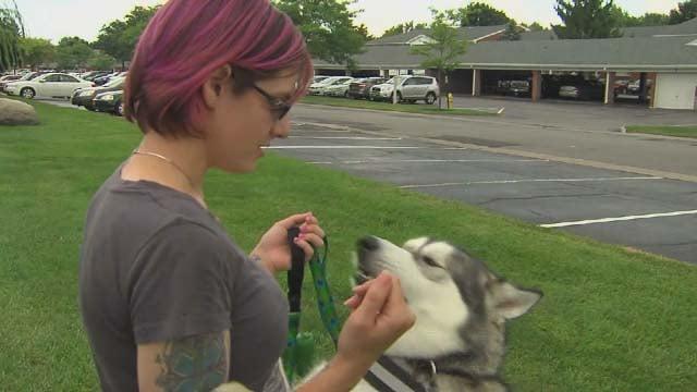 Amy Kaplan and her dog Zero (CNN)