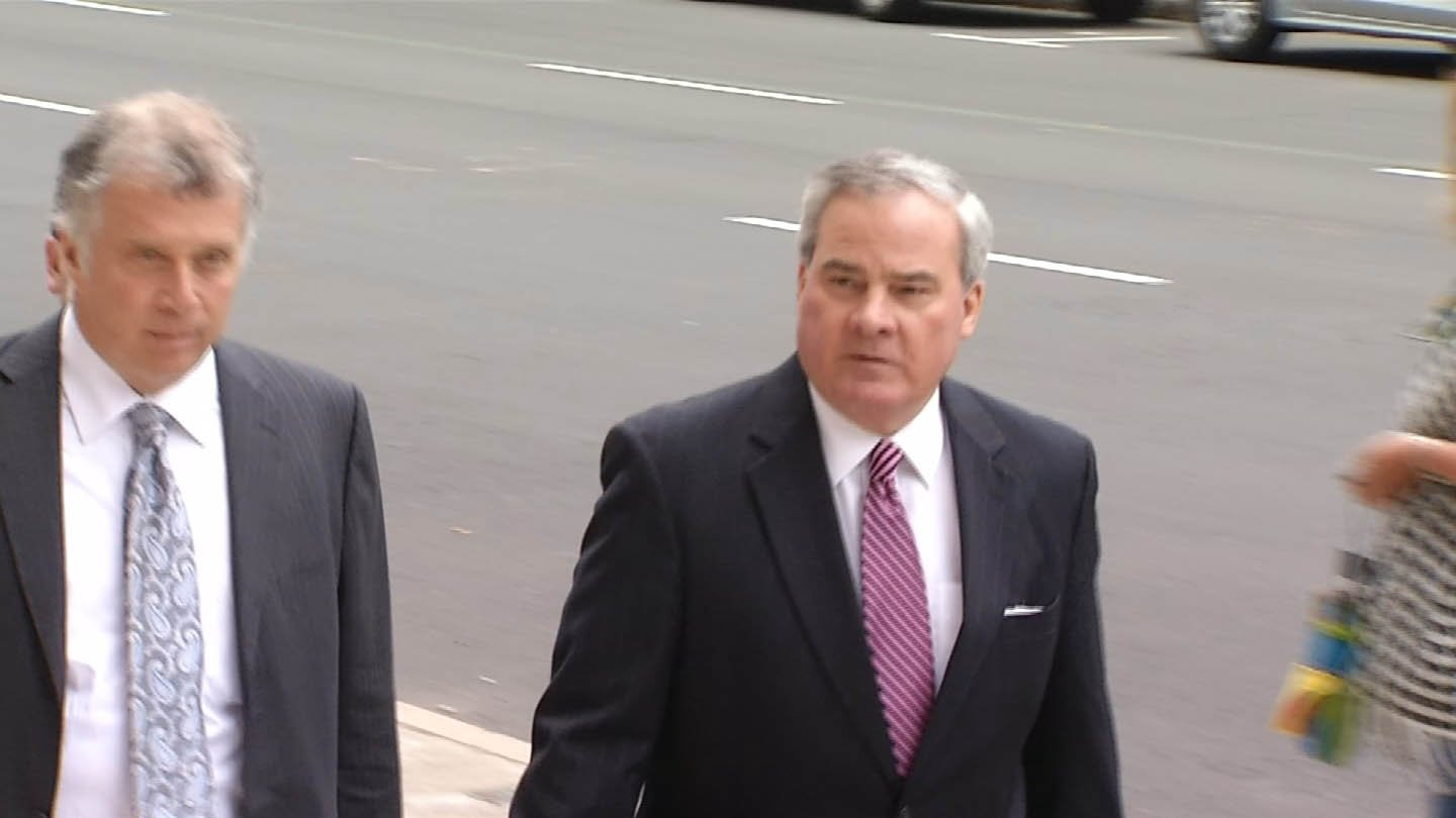 Former Gov. John Rowland arriving for a previous court appearance. (WFSB file photo)