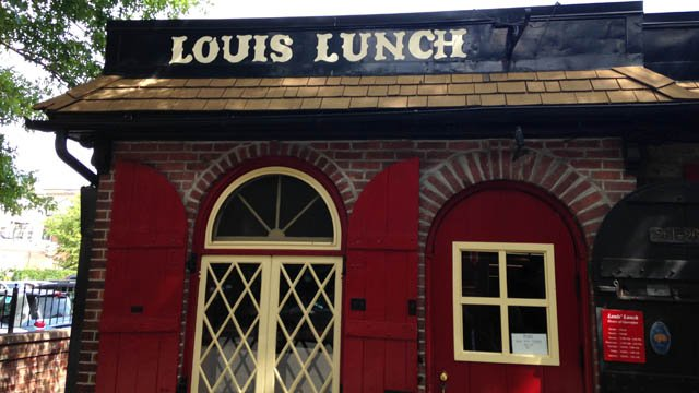 Louis' Lunch on Crown Street in New Haven. (WFSB photo)