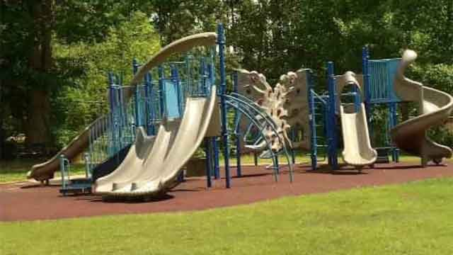 Playground at Strong Elementary School (WFSB)