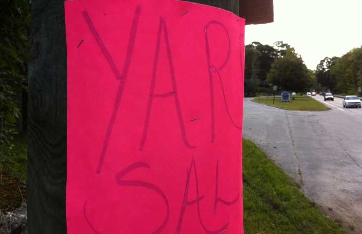 Town leaders in Putnam are planning to enforce the law regulating yard sales, tag sales, garage sales. (WFSB photo)
