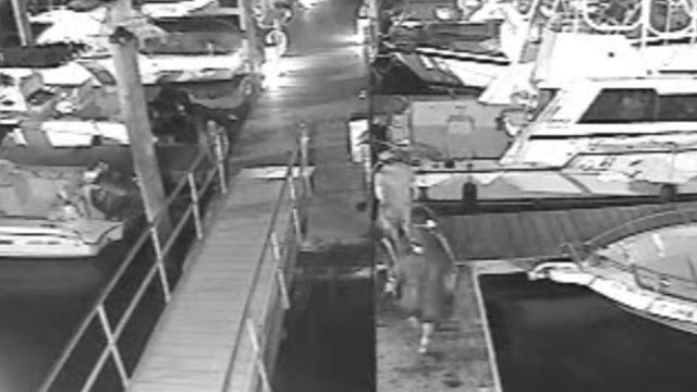 Video Shows 2 Men Stealing Boat Motor From Marina In