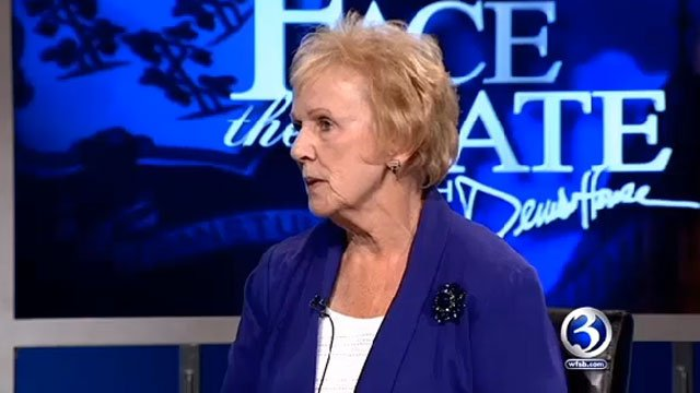 Newtown First Selectman Pat Llodra on Face the State on Dec., 2013 (WFSB file photo)