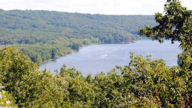 View of the Connecticut River from the Swan Hill Trail in Higganum (WFSB photo)