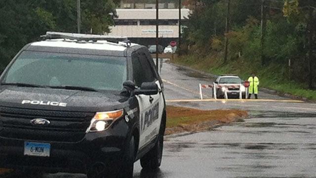 Sandy Hook Elementary School in Monroe was evacuated on Wednesday. (WFSB photo)