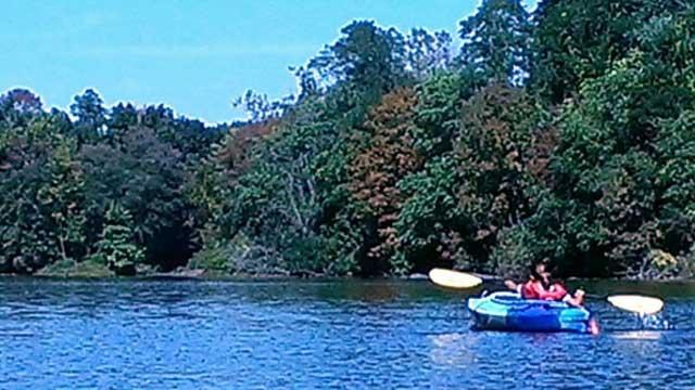 Kayaker on the Farmington River