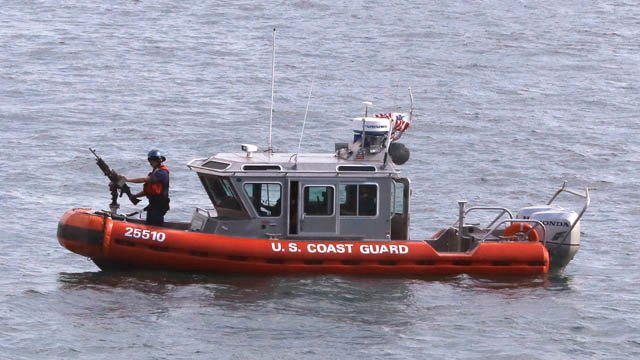 U.S. Coast Guard found lost swimmer (AP photo)