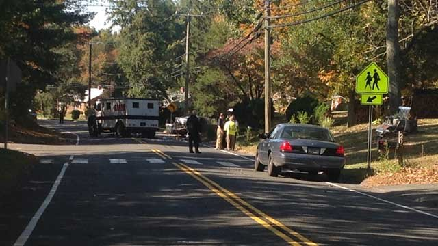 Emergency crews expected the road to be closed for hours. (WFSB photo)